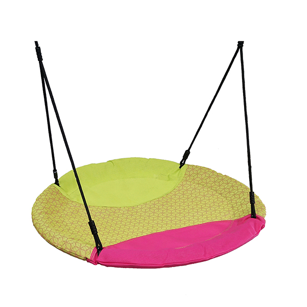 NEST SWING ROUND LIME/CERISE