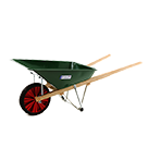 Wheelbarrow with metal tray